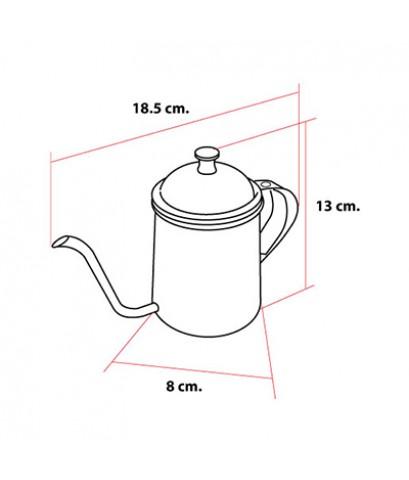 กาต้มน้ำดริปกาแฟ สแตนเลส 400 ซีซี. 1610-381