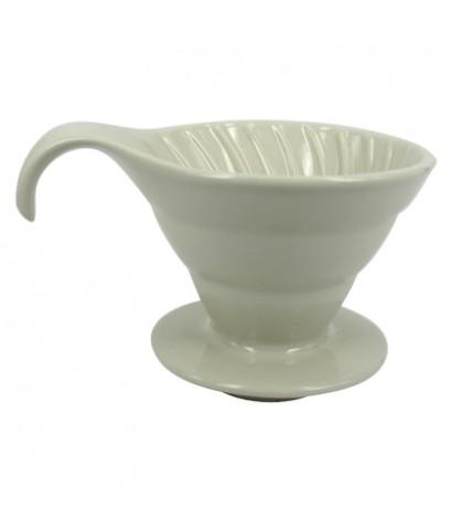 ถ้วยดริปเซรามิคหรือถ้วยกรองกาแฟรูเดี่ยว 3-4 ถ้วย (ครีม) 1610-384-C05