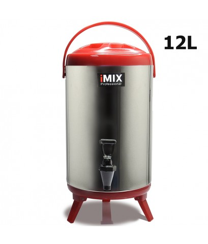 ถังเก็บชานม ถังคูลเลอร์ สแตนเลส 12 ลิตร สีแดง 1614-085-C03