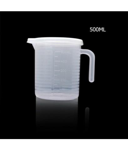 ถ้วยตวงพลาสติก 500 CC มีฝาปิด 1610-617