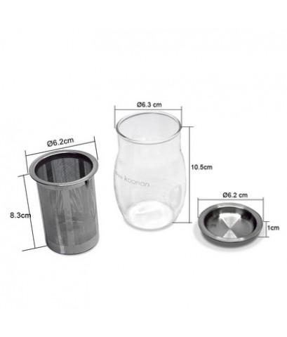 กาแก้วกรองชา Koonan 1610-628