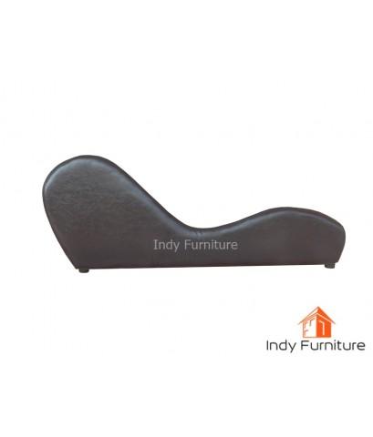 โซฟาคู่รัก รุ่น Sex sofa ขนาด 160x45x62 ซม. หุ้มหนังPu สีน้ำตาล