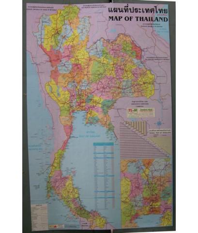 แผนที่ประเทศไทยแบบแม่เหล็กติดตู้เย็นเต็มแผ่น