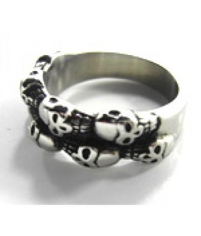 แหวนสแตนเลส หัวกระโหลก 09