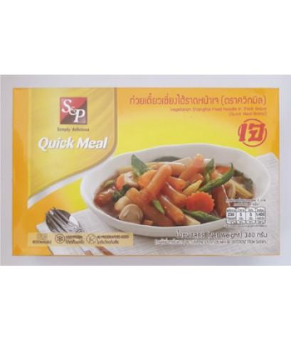 ก๋วยเตี๋ยวเซี่ยงไฮ้ราดหน้าเจ Vegetarian Shanghai Fried Noodle in Thick Gravy.(340g)