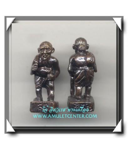 หลวงพ่อสง่า - หลวงปู่สุข - หลวงปู่ศรี ชูชก 3 ส.เนื้อทองผสมรมดำ