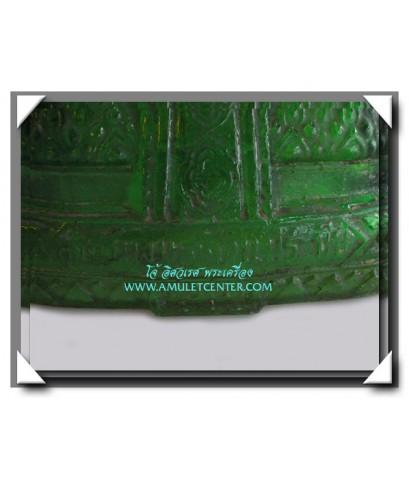 พระบูชา 25 พุทธศตวรรษ พิมพ์พระแก้วมรกตเนื้อแก้วสีเขียวใส JAPAN หน้าตัก 5.5 นิ้ว สวยแชมป์