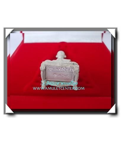 รูปหล่อสมเด็จโตเนื้อเงินพิมพ์ใหญ่ อนุสรณ์ 128 ปี วัดเกศไชโย งานแพรนด้าจิวเวลลี่ พ.ศ.2543