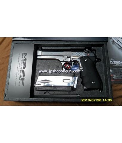 ปืนบีบีกัน Tokyo Marui M92F Chrome Stainless จากญี่ปุ่น