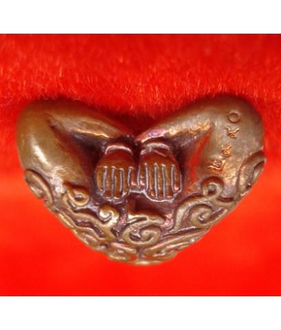พระปิดตาอุตตโม พิมพ์ใหญ่ เนื้อทองแดง หลวงพ่อสาคร วัดหนองกรับ ไตรมาส ปี 2553 สุดยอดพระปิดตาดัง