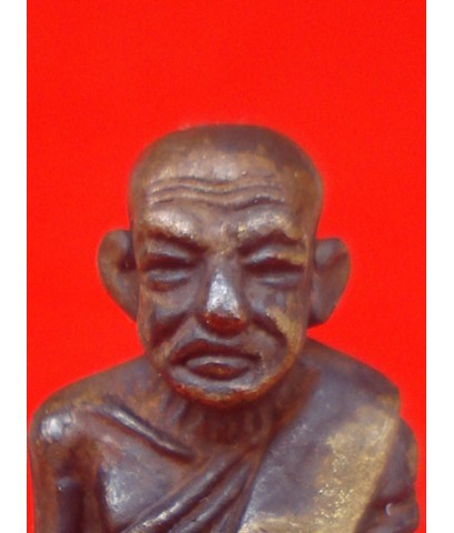 รูปหล่อหลวงพ่อทวด บัวรอบ รุ่นแรก เนื้อทองผสมผิวไฟ สมเด็จพระมหาวีรวงศ์ วัดสัมพันธวงศ์ ปี 2555