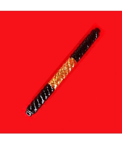 ตะกรุดโสฬสมงคล หลวงปู่เอี่ยม วัดสะพานสูง รุ่นเสาร์ 5 ปี 53 ถักเชือกจุ่มรักหนาปิดทอง สร้างตามต้นตำรับ