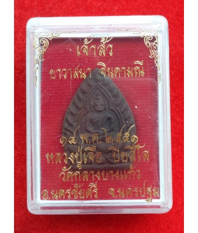 พระพิมพ์เจ้าสัว เนื้อผงยาวาสนาจินดามณี พระเครื่องหลวงปู่เจือ วัดกลางบางแก้ว ปี 2551
