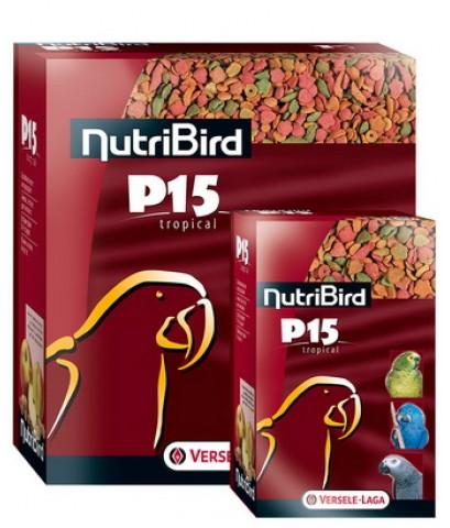 NutriBird P15 อาหารนกแก้ว ใหญ่-กลาง สูตรเม็ดสี โปรตีน 15 เปอร์เซ็น แพ็คเก็จบรรจุ 4 K.G