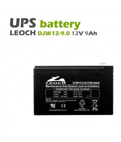 แบตเตอรี่แห้ง 12V 9Ah LEOCH DJW12-9 LP12-9.0 Battery Lead Acid SLA VRLA AGM