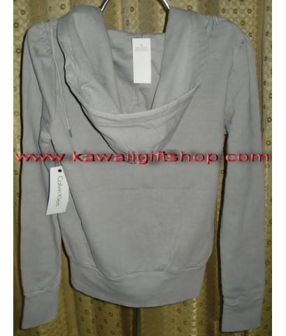 เสื้อกันหนาวแขนยาว Calvin Klein (มีหมวกคลุม) สีเทา