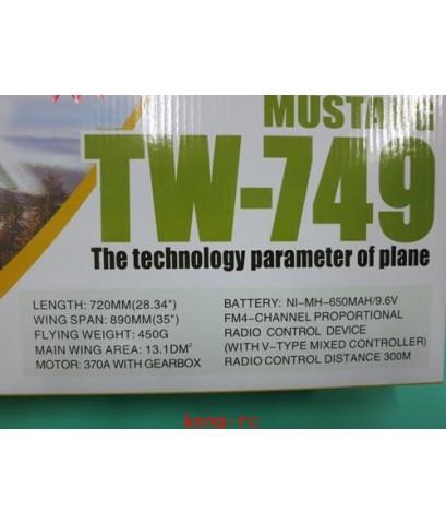 เครื่องบินบังคับ 4 ch  MUSTANG TW-749 อุปกรณ์ครบพร้อมบิน