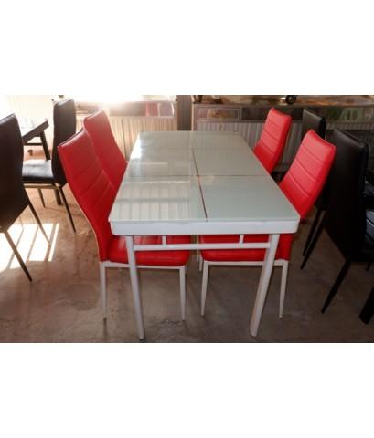 ชุดโต๊ะนั่งทานอาหาร 4 ที่นั่งมือสอง