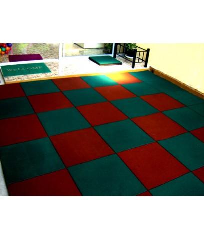 บล็อกยางพาราปูพื้น 50*50  สำหรับปูพื้นสนามเด็กเล่น ลดแรงกระแทก กันลื่น ปลอดภัยต่อเด็กขณะเล่นของเล่น