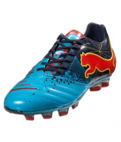 รองเท้าฟุตบอล PUMA PowerCat 1.12 Gravity FG - Fluo Blue/New Navy/Orange/Team Yellow