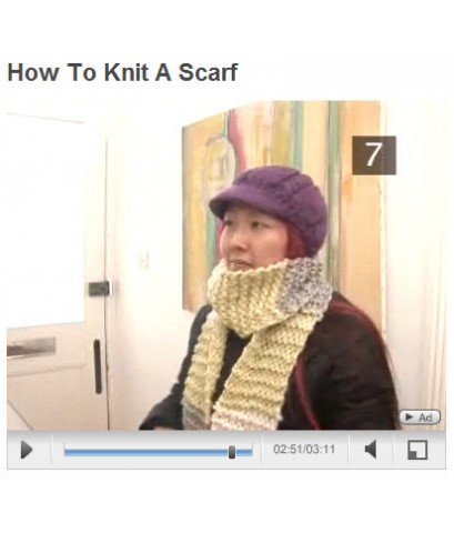 วิธีการถักผ้าพันคอ