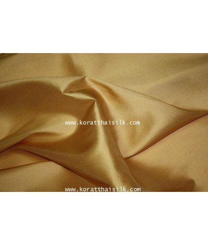 ผ้าไหม2 เส้น สีทอง 1