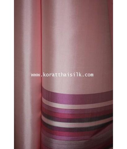 ผ้าไหมตัดชุดไทย สีชมพูอมโอโรส