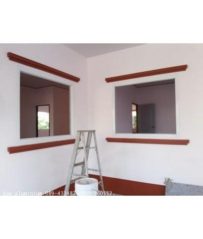 งานอลูมิเนียม+กระจก บ้านโจ้ สันทราย
