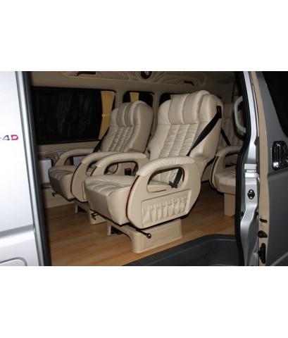 เบาะVIP 3 แถว 8 ที่นั่ง แบบโซฟาทุกแถว ปรับหนุนได้ 2 ตัวหน้า ราคารวมติดตั้ง 83,500 บาท