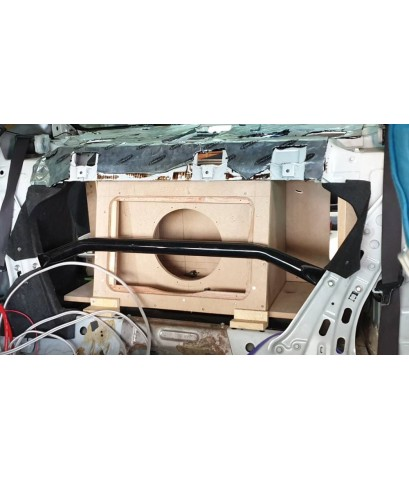 ตัวอย่าง honda civic ปี 2005-2012 ตีตู้ซับ แบนพาส 1 ดอก