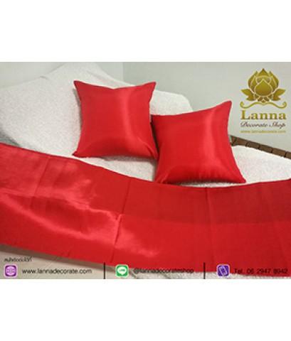ชุดตกแต่งเตียง คอลเล็คชั่น สีล้วนสีแดงสด