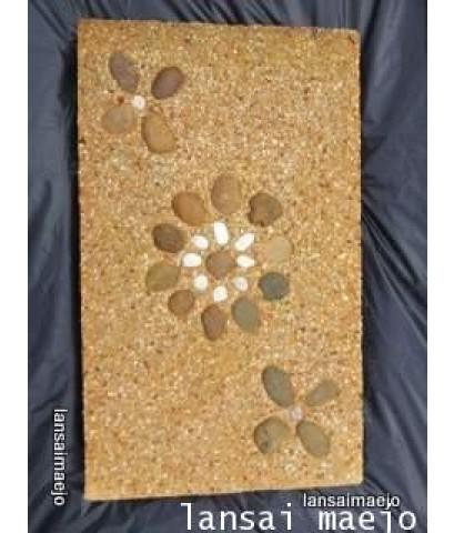 แผ่นทรายล้างดอกเฉียง30X50ซม