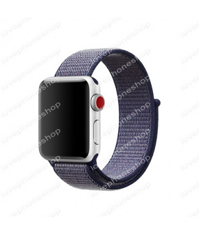 สายนาฬิกา Apple Watch Nylon Sport Loop ผ้าไนล่อนใส่สบาย สีMidnight Blue (For Series1/2/3/4) 38,40mm.