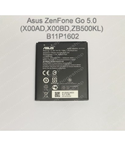 แบตเตอรี่ (Original) Asus ZenFone Go 5.0 (X00AD,X00BD,ZB500KL) รหัส B11P1602 ส่งฟรี!!