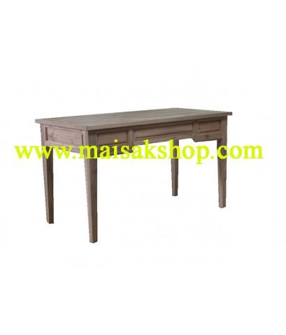 เฟอร์นิเจอร์ไม้สัก (Furniture) โต๊ะ,โต๊ะทำงานไม้สัก แบบขาตรง 3 ลิ้นชัก