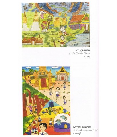 ภาพวาด  เที่ยวทั่วไทย  ไปเพื่อเรียนรู้