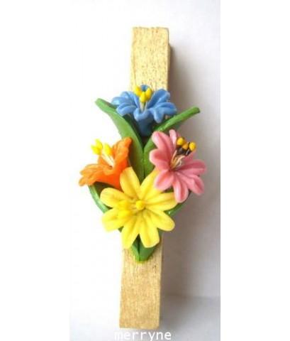 ไม้หนีบ งานปั้นดอกไม้
