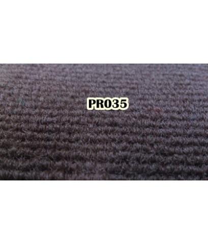 ขายพรม ลูกฟูก ราคาถูก สีน้ำตาลเข้ม PR 035 (สั่งผลิต) ยกม้วน กว้าง 2.0x25m.