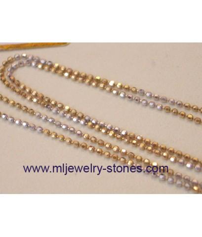สร้อยคอทองคำขาวอิตาลีแท้ 18 k 2 สี