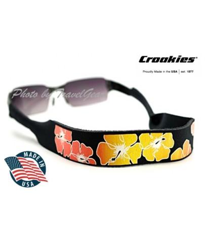 สายคล้องแว่นตา Croakies XL Print รุ่น Hibiscus Black