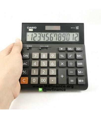 เครื่องคิดเลขตั้งโต๊ะคาสิโอ Casio DH-12 สีดำ ของใหม่ ของแท้