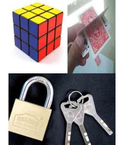 แฉกลโกงไพ่ วิธีการหมุนรูบิค สะเดาะกุญแจ DVD 1 แผ่น พากย์ไทย