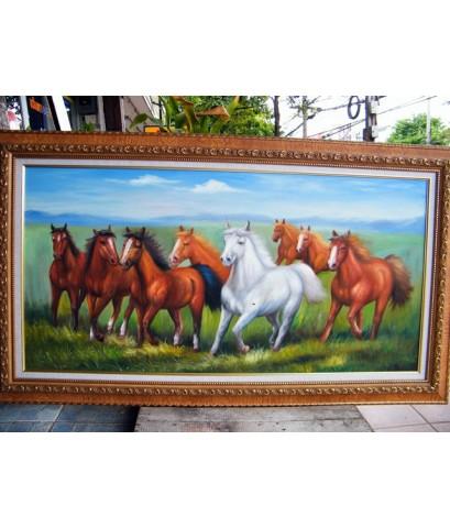ภาพวาด ม้า 8 ตัว