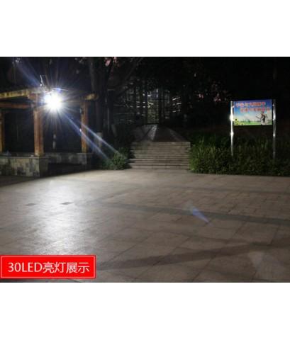 สปอร์ตไลท์โซล่าร์เซลล์ 30 SMD แสงสีขาว (SL-380B)