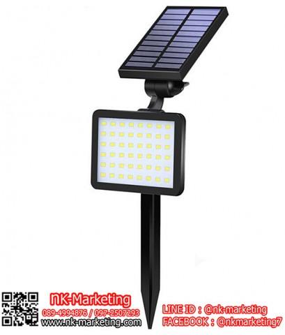 โคมไฟสนามโซล่าร์เซลล์ 48 LED แสงสีขาว (SL-50C)