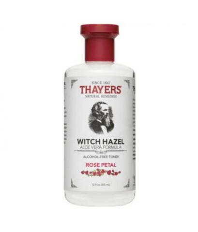*พร้อมส่ง* Thayers Witch Hazel Aloe Vera Formula Alcohol-Free Toner ~ Rose Petal 355ml.