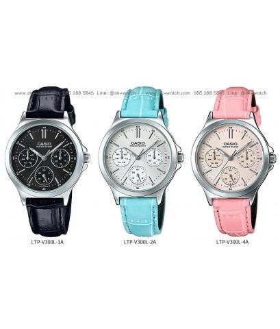 นาฬิกาข้อมือผู้หญิง Casio standard รุ่น LTP-V300L-4A ของใหม่ ของแท้
