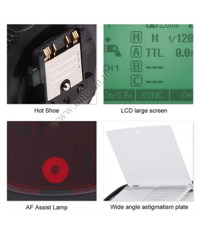 V860IIS Sony Auto TTL Kit Speedlight Li-ion Battery Buit in X1Receive LCD Panel แฟลชออโต้Godox