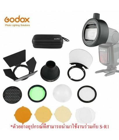 S-R1 Godox Round Head Flash Speedlight Adapter for TT685 V860 V860II TT600 หัวแปลงแฟลชเป็นหัวกลม