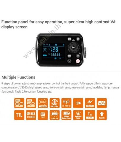 AD200Pro Godox HSS Sync Wireless Pocket Double Head Flash Portable TTL AD200 ฟรีเจลสีและS-R1
